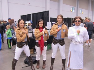 Attack on Titan ... and an awesome Princess Leia :)