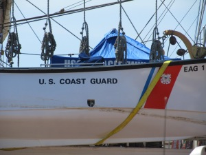 Part of the USCGC Eagle, one of the first ships that Daddy sailed on!