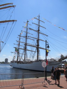 "The Brazilian vessel ""Cisne Branco"""