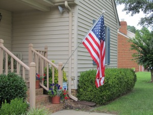Old Glory in front of the house.