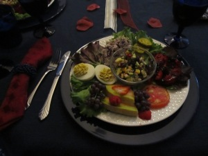 This was the luncheon plate. Everyone was raving that it belonged in a magazine! It was almost too pretty to eat!