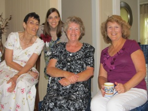 L to R: My mom, LB, Al's mom, and Kathy.