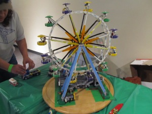 This epic Ferris Wheel turns with a crank!