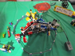 This is a LEGO model of one of those carnival rides.