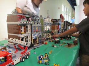 This is part of the LEGO city that Meg assembled for the kids. It was awesome!