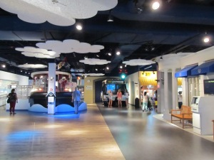 The first floor of the museum. They've done a nice job updating it!