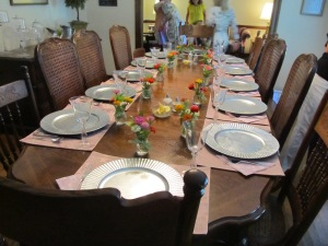 The amazing table! Linda and Sue are beautiful decorators.