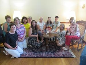 L to R: Linda, Dea, Suzie, Janie, Michaela Leigh, Cindy, LB, Karen, Lucy, and Val. Sue took the photo.
