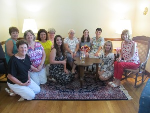L to R: Linda, Dea, Suzie, Janie, Michaela Leigh, Cindy, LB, Karen, Lucy, and Val. Sue took the photo.