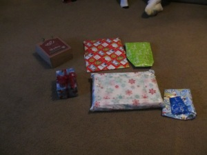 Our pile of gifts!