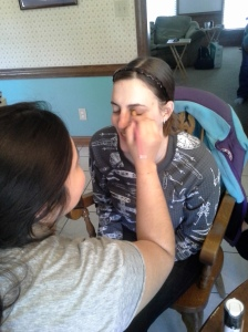 Heaven doing LB's makeup :) Photo Credit: Justin Clatterbuck
