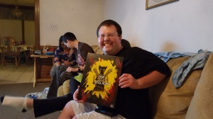 """Laura Beth had a special Wolverine commission done for Drew! Check out """"SavyArt"""" on Facebook for more information! Photo Credit: Al Vardaro"""