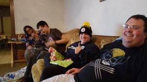 Al bought Katie a Steelers stocking cap! Photo Credit: Al Vardaro