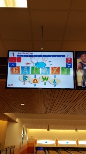 After exploring Universal, we went back to the resort and enjoyed the Galaxy Bowl bowling alley!