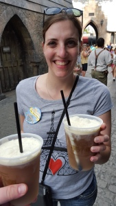 We experienced Butterbeer! It was amazing! The frozen kind was perfect because it was warm and humid!