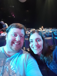 Selfie before the show! We couldn't take pictures or video, but it was an amazing show!