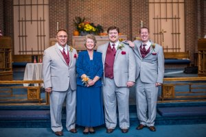 Al's immediate family! L to R: Bruce (Dad), Debbie (Mom), Al, and Nick (Brother and brother-in-law)