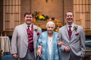 91-year-old Grandma Helena came!! L to R: Al, Grandma, Nick