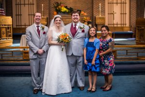 L to R: Nick, LB, Al, Mia (future niece), and Savy (future sister-in-law).