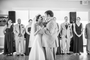 "Our first dance. We danced to ""Who I Am With You"" by Chris Young."