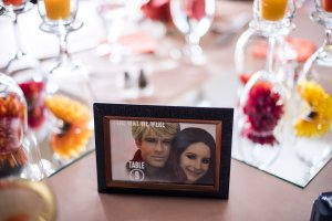 Al and I love movies, so he edited images of famous movie couples for our tables!