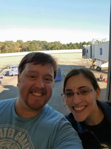 Waiting for our flight! So excited!