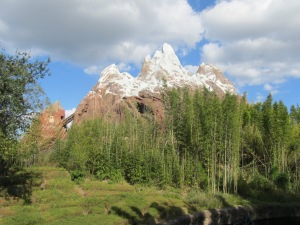 Expedition Everest! We were in the front row! It was an awesome ride.