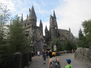 Hogwarts! This had the Harry Potter and the Forbidden Journey ride - So cool!