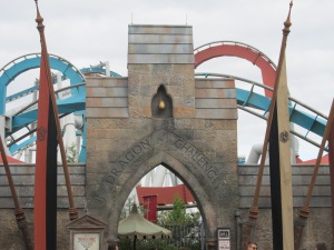I rode the Dragon Challenge roller coaster - Front row, and with only one other guy on the train, and he was in the very back!