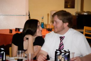 This was a candid shot taken at the Alpha Sigma Tau Anchor Banquet, November 2010, just a couple months after we started dating. Photo Credit: Tina Bird Stewart.