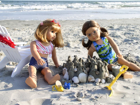 American Girl Dolls Sandcastle
